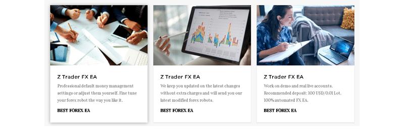 Z Trader FX EA sales page