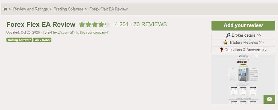Forex Flex EA's profile