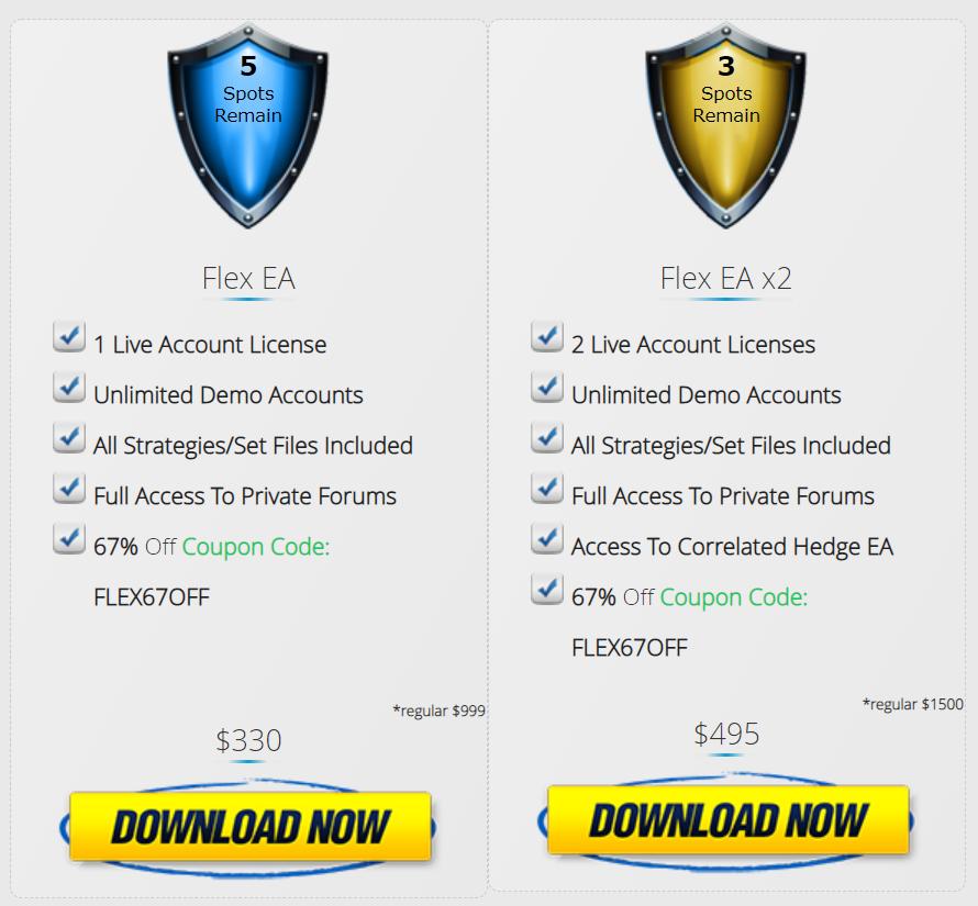 Forex Flex EA Price