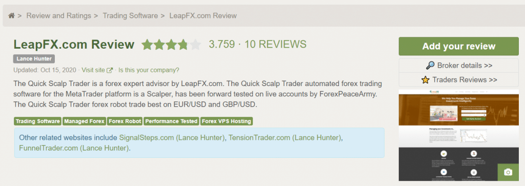 Bounce Trader People's Testimonials