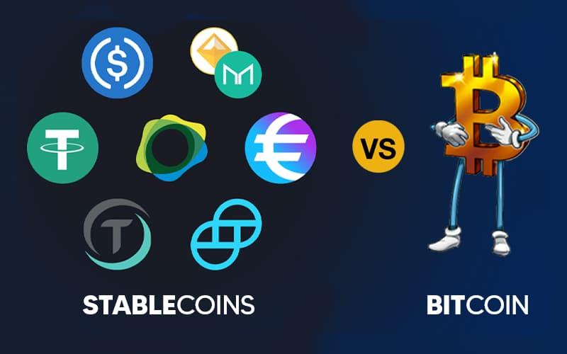 Bitcoin vs. Stablecoins