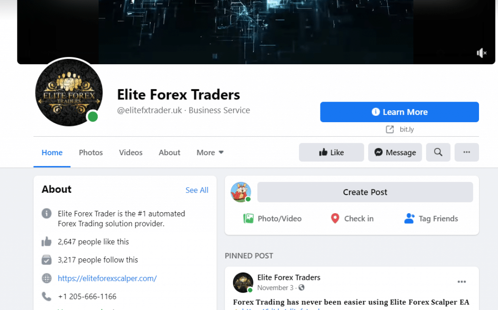 Elite Forex Scalper Facebook