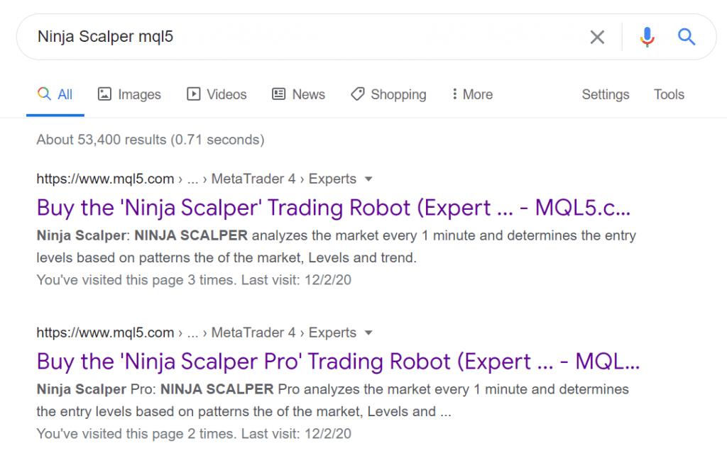 Ninja Scalper - MQL5 pages