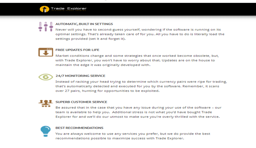 Trade Explorer Main Features