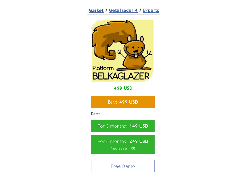Belkaglazer EA price