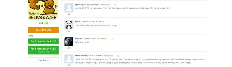 Belkaglazer EA Customer Feedback