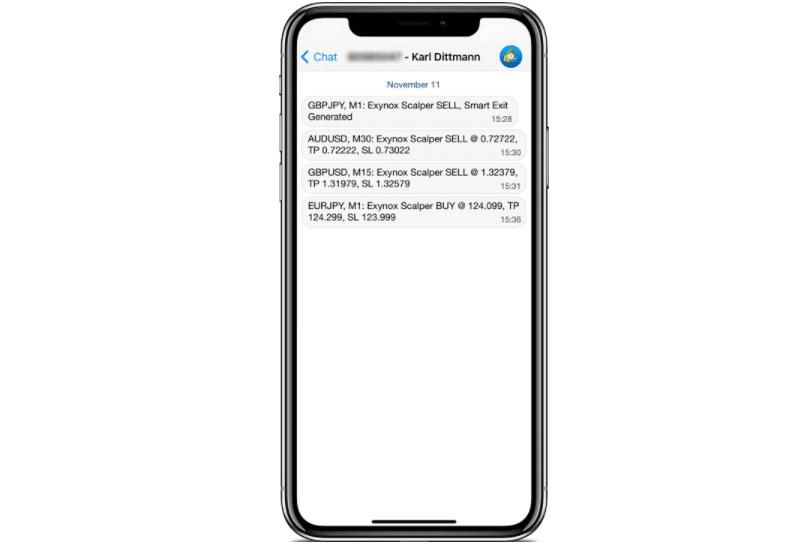 Exynox Scalper mobile phone alerts