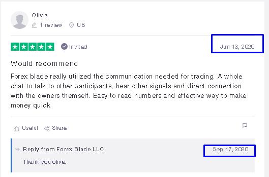 Forex Blade LLC Customer reviews