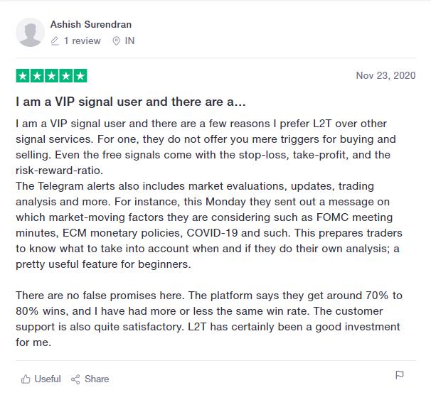 Learn2Trade People feedback