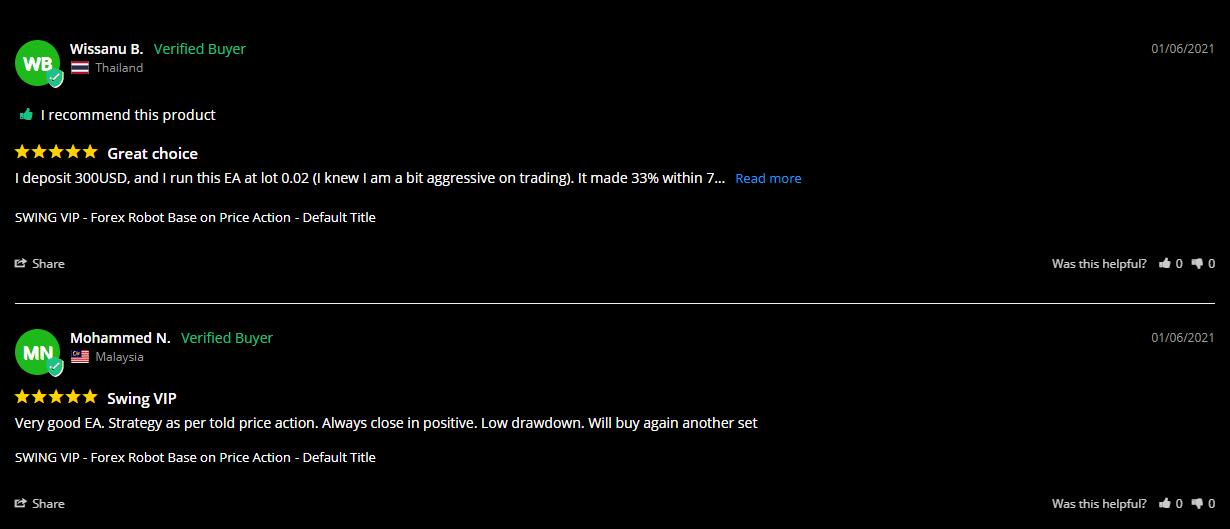 Swing VIP People feedback