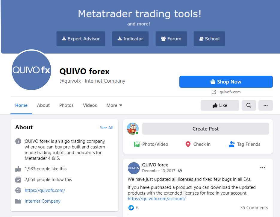 Quivo FX - Facebook profile