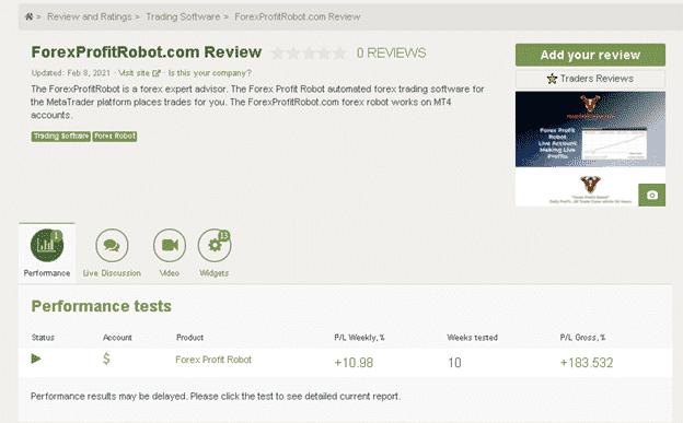 Forex Profit Robot Customer reviews