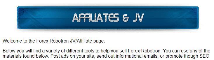 Forex Robotron - affiliate program