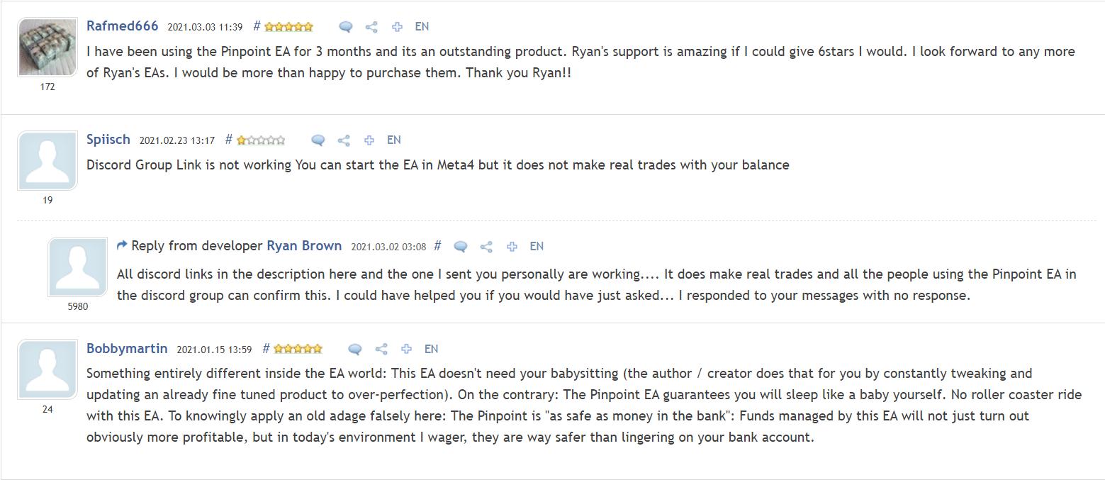 Pinpoint EA People feedback