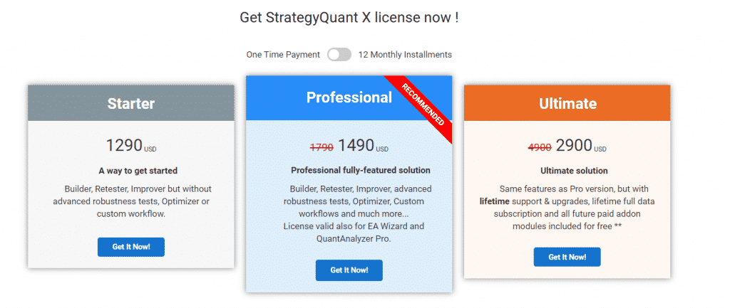 StrategyQuant X Price