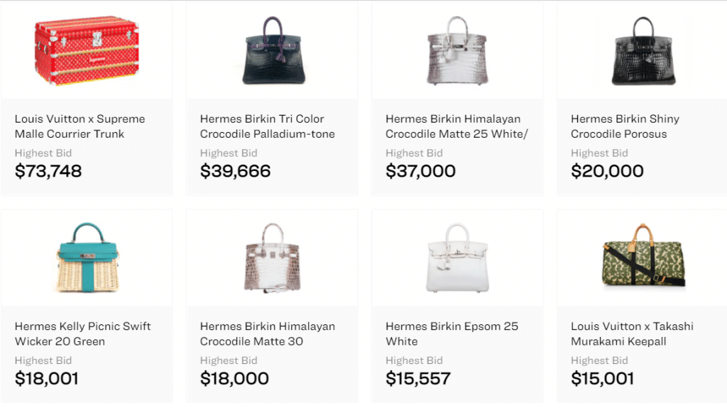 Handbags as collectibles