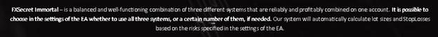 FXSecret Immortal Features