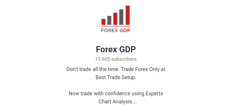 Forex GDP. The company runs a Telegram channel with 13,605 subscribers in it.