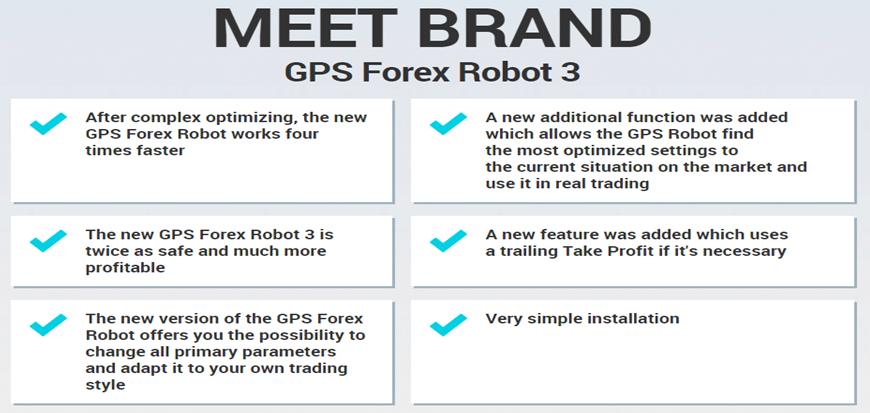 GPS Forex Robot Main Features