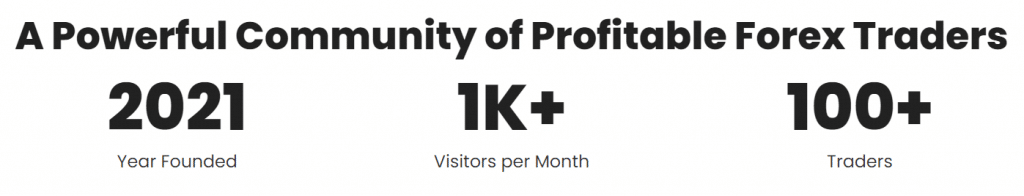 Green Graph EA. There are over 1000 visitors monthly (who cares?) and 100 traders (clients?).
