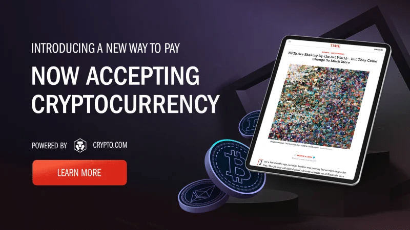 Time Taps Crypto.com To Allow Cryptocurrency Payments For Digital Subscriptions