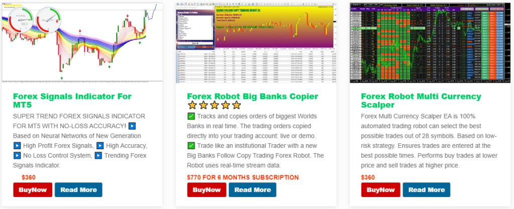 Altredo Forex Robots. There are many robots that cost from $300 to $450.