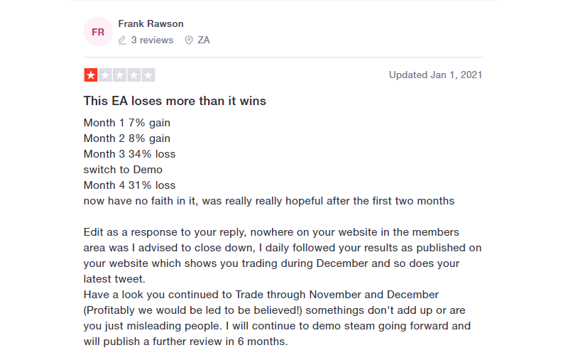 Forex Steam Customer Reviews