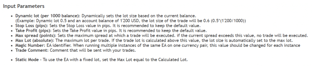 Forex Paris 2021. The system has eight parameters to customize.