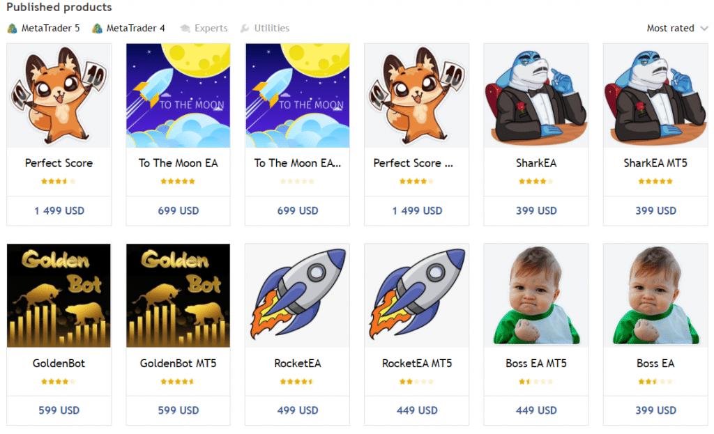 Perfect Score. The developer has twelve products in his portfolio.
