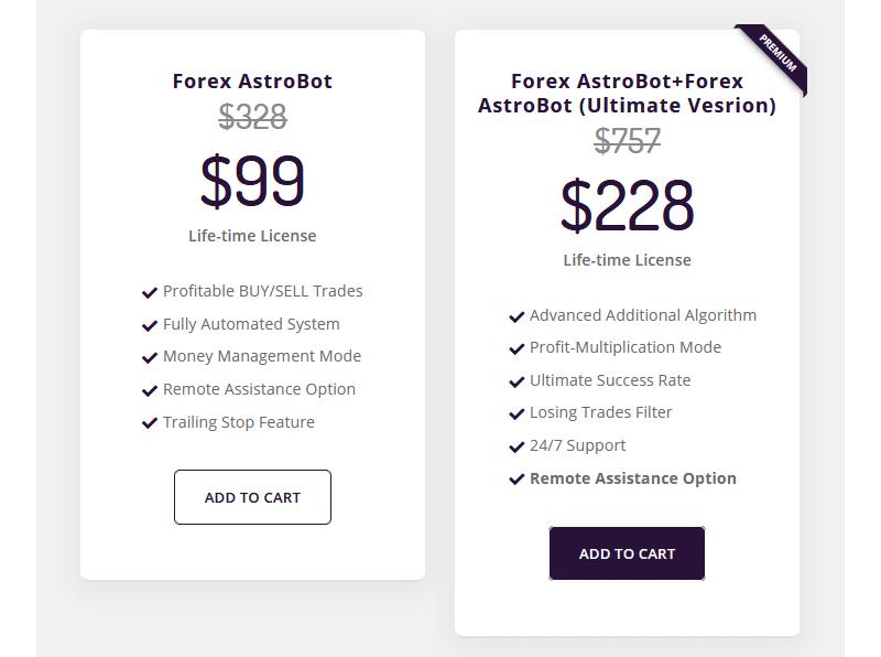 Forex Astrobot Price