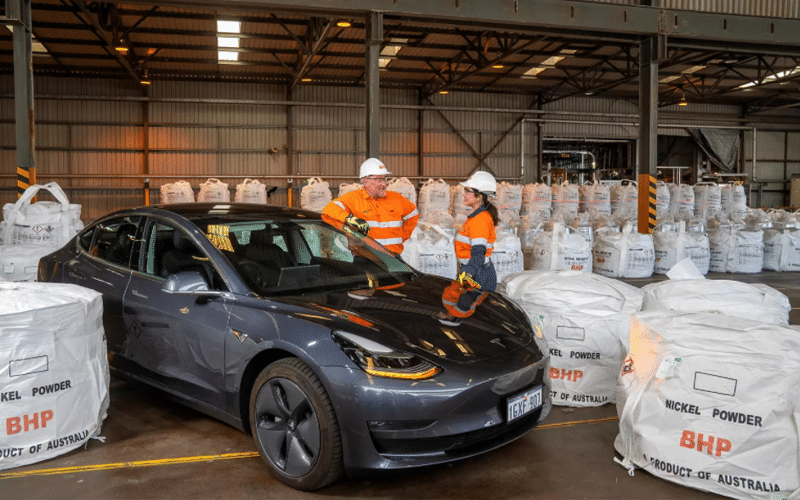 Top Miner BHP Signs Nickel-Supply Pact with Tesla Inc