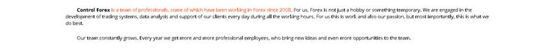 Control Forex - Company Profile