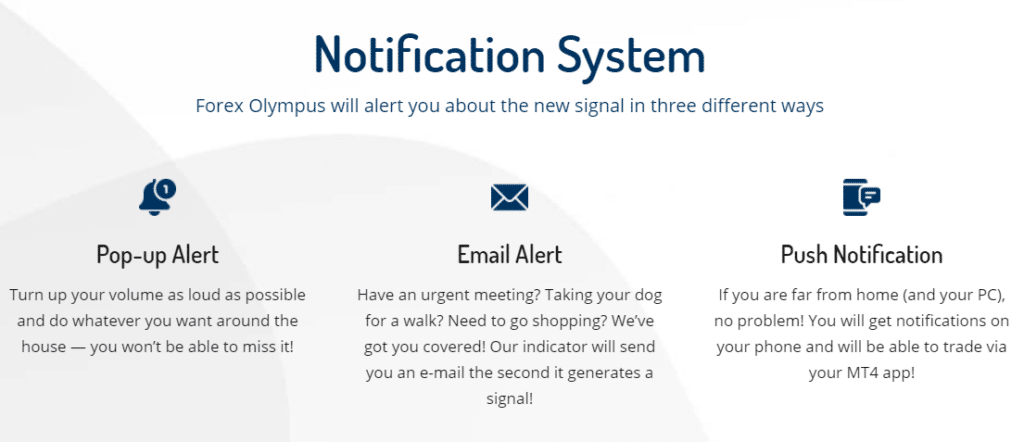 Forex Olympus notifications
