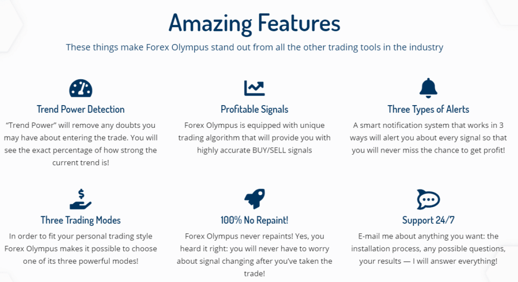 Forex Olympus Features
