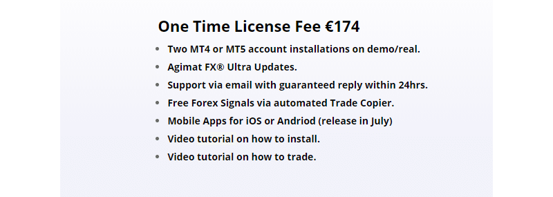 Pricing package of Agimat Trading System.