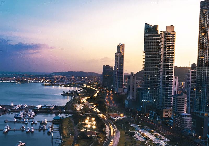 Buildings in Costa del Este, Panama.