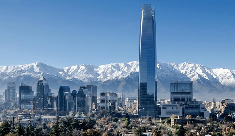 Business buildings in Santiago de Chile
