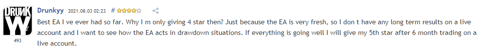 Trader indicating SIEA Zen is the best EA.