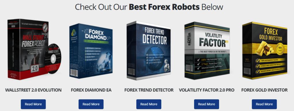 Expert advisors developed by FXAutomater.