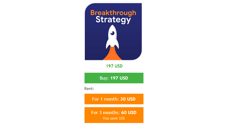 Breakthrough Strategy's pricing plans.